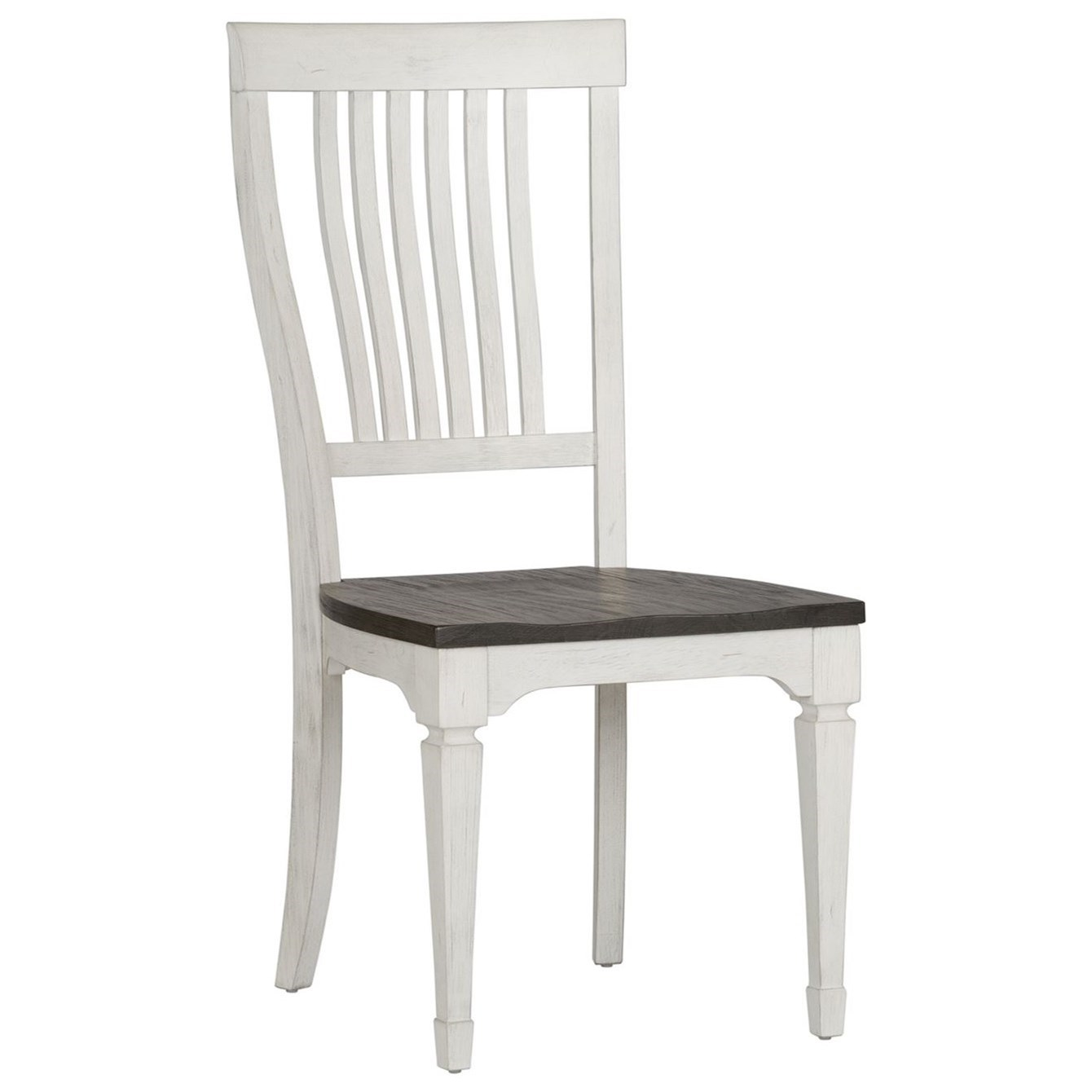 Allyson Park Slat Back Side Chair by Liberty Furniture at Furniture and ApplianceMart