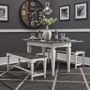 3 Piece Dining Set with Benches