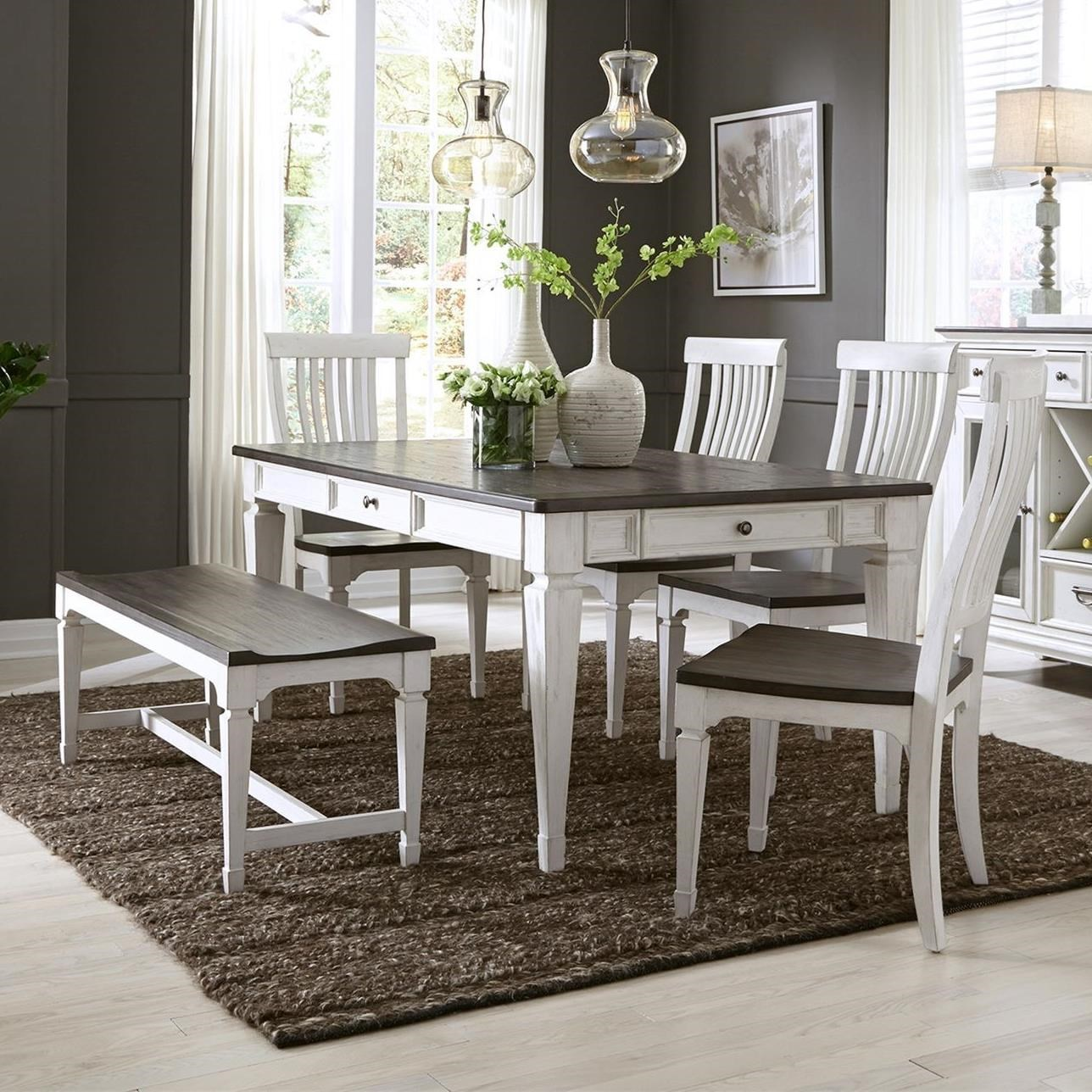 Allyson Park 6 Piece Rectangular Table Set  by Liberty Furniture at Catalog Outlet