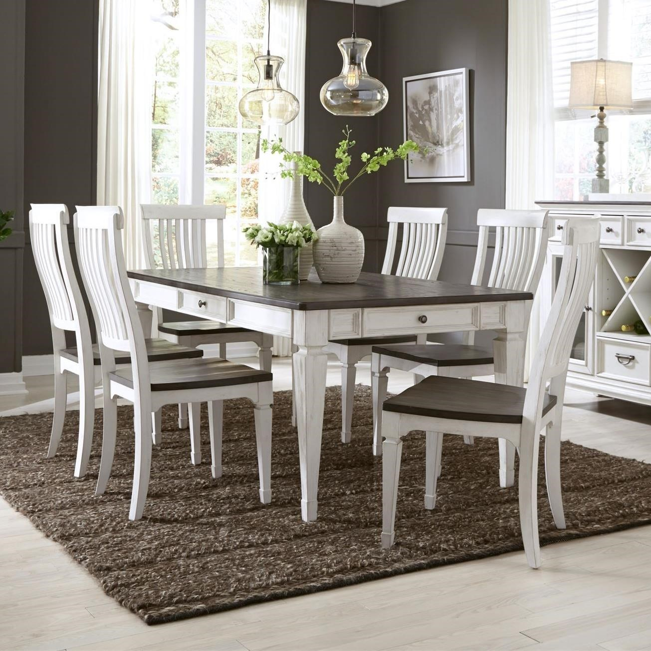 Allyson Park 7 Piece Rectangular Table Set  by Liberty Furniture at Catalog Outlet