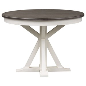 Cottage Pedestal Round Table with Leaf