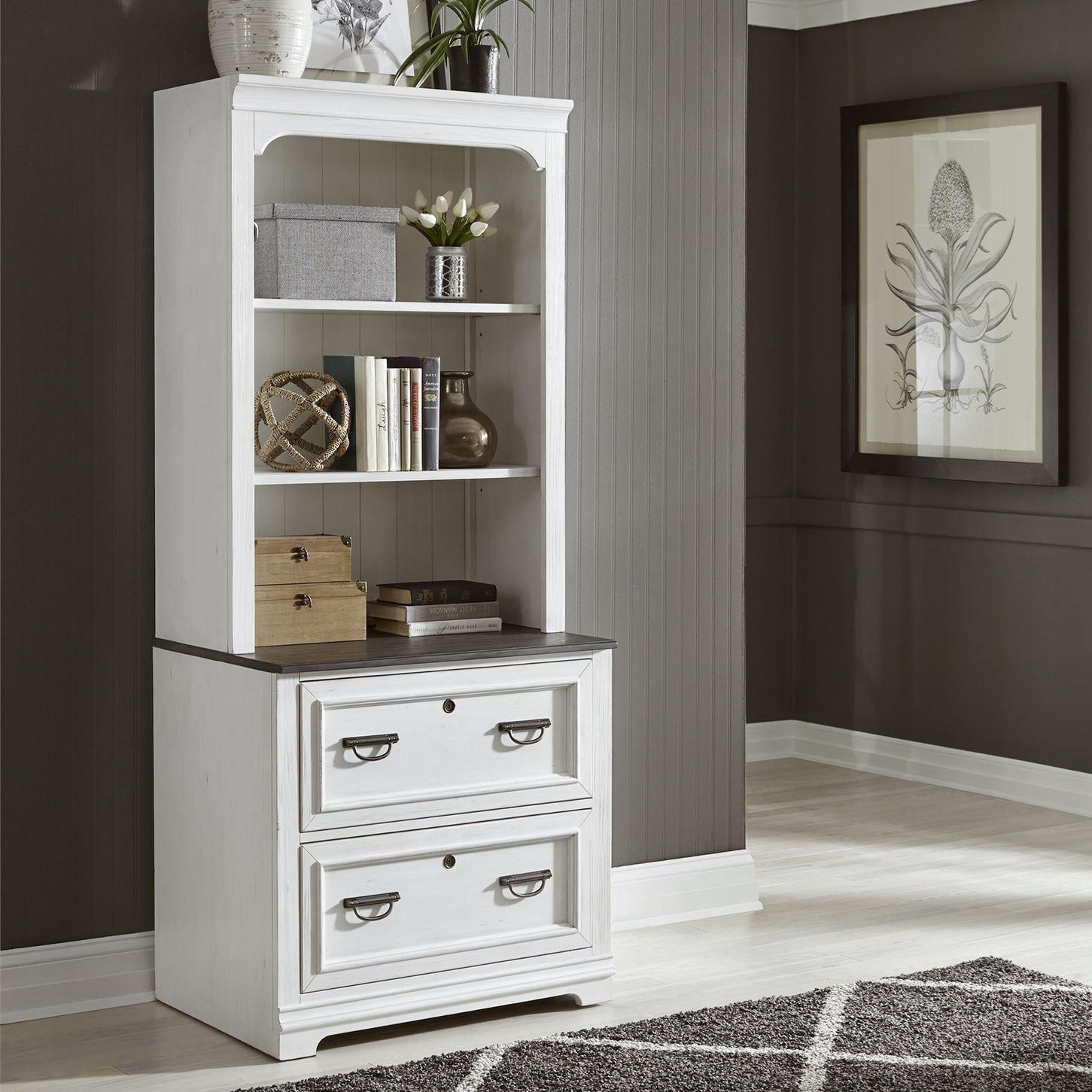 Allyson Park Lateral File and Hutch by Liberty Furniture at Catalog Outlet