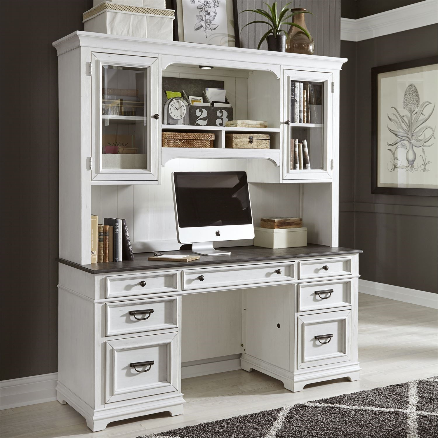Allyson Park Credenza and Hutch by Libby at Walker's Furniture