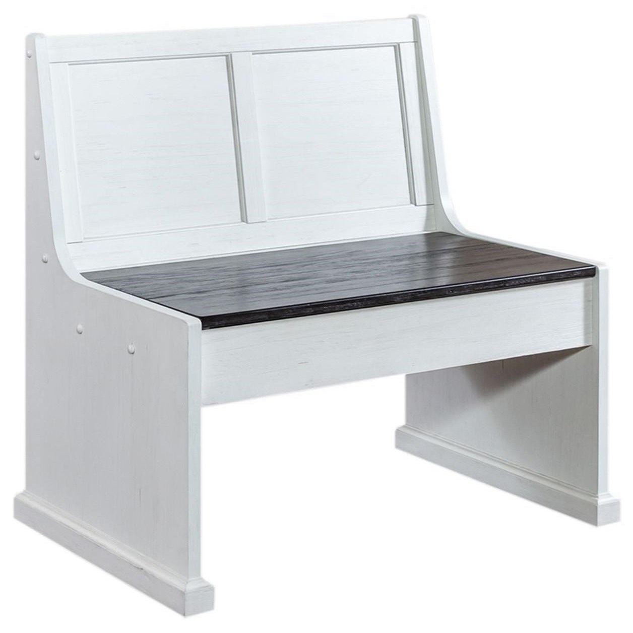 Allyson Park 37 Inch Nook Bench by Liberty Furniture at Home Collections Furniture