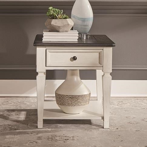 Allyson Park Drawer End Table by Liberty Furniture at Zak's Home