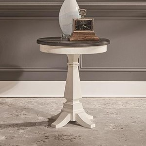 Transitional Two-Toned Chairside Table