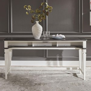 Transitional Two-Toned Console Bar Table