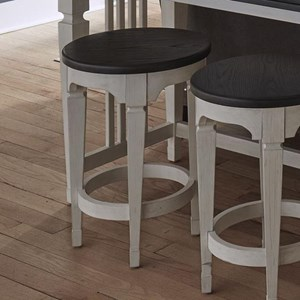 Transitional Two-Toned Console Stool