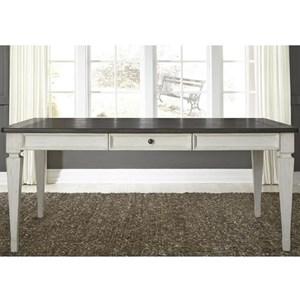 Transitional 4 Drawer Rectangular Leg Table