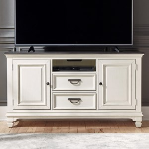 "Transitional 56"" TV Console with Wire Management"