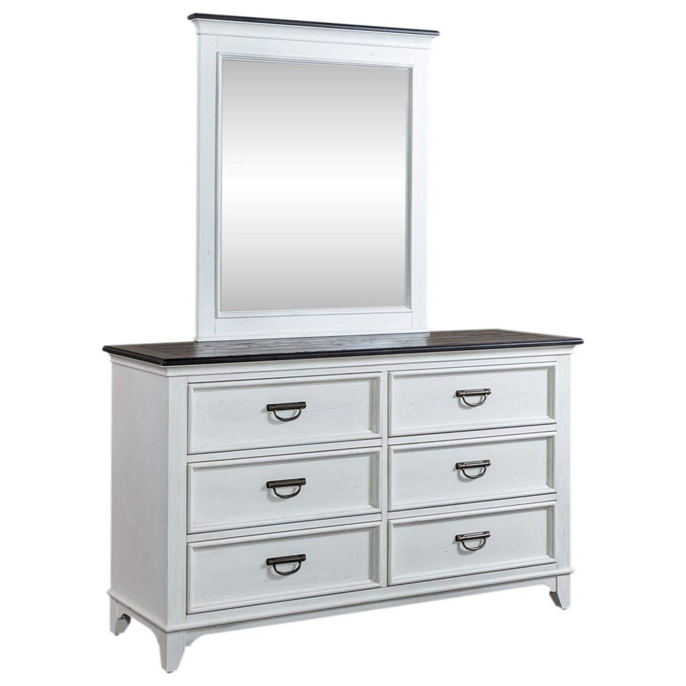 Allyson Park Dresser & Mirror by Liberty Furniture at Van Hill Furniture