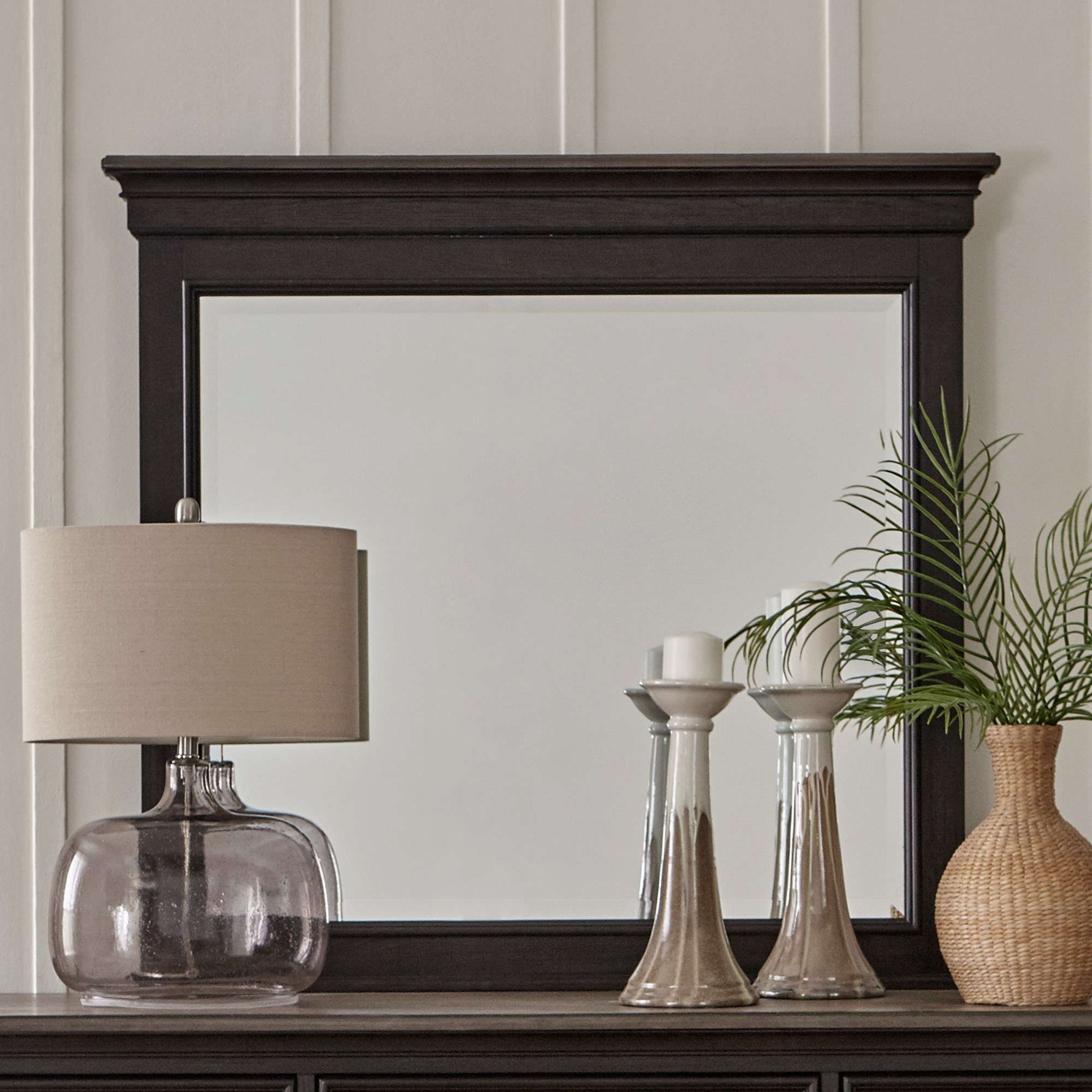 Allyson Park Crown Mirror by Libby at Walker's Furniture