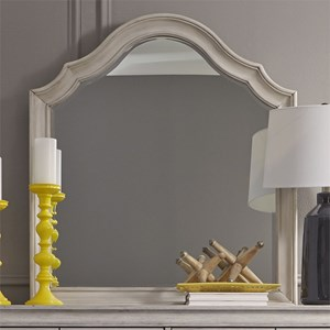 Cottage Dresser Mirror with Beveled Glass