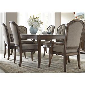 Liberty Furniture Amelia Dining 7 Piece Rectangular Table Set