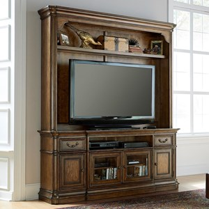 Entertainment Center with Wire Management