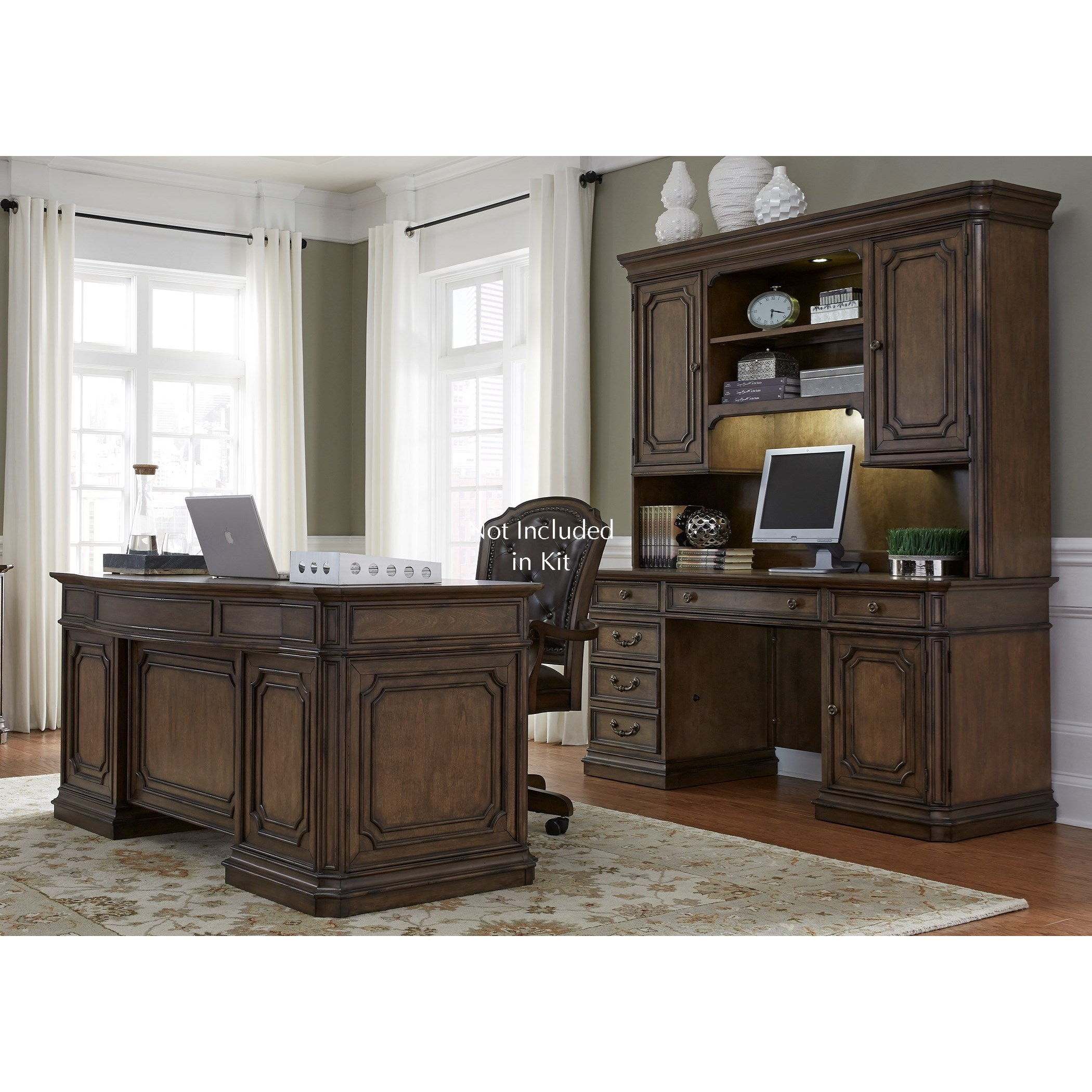 Amelia Home Office 5 Piece Jr Executive Set  by Libby at Walker's Furniture
