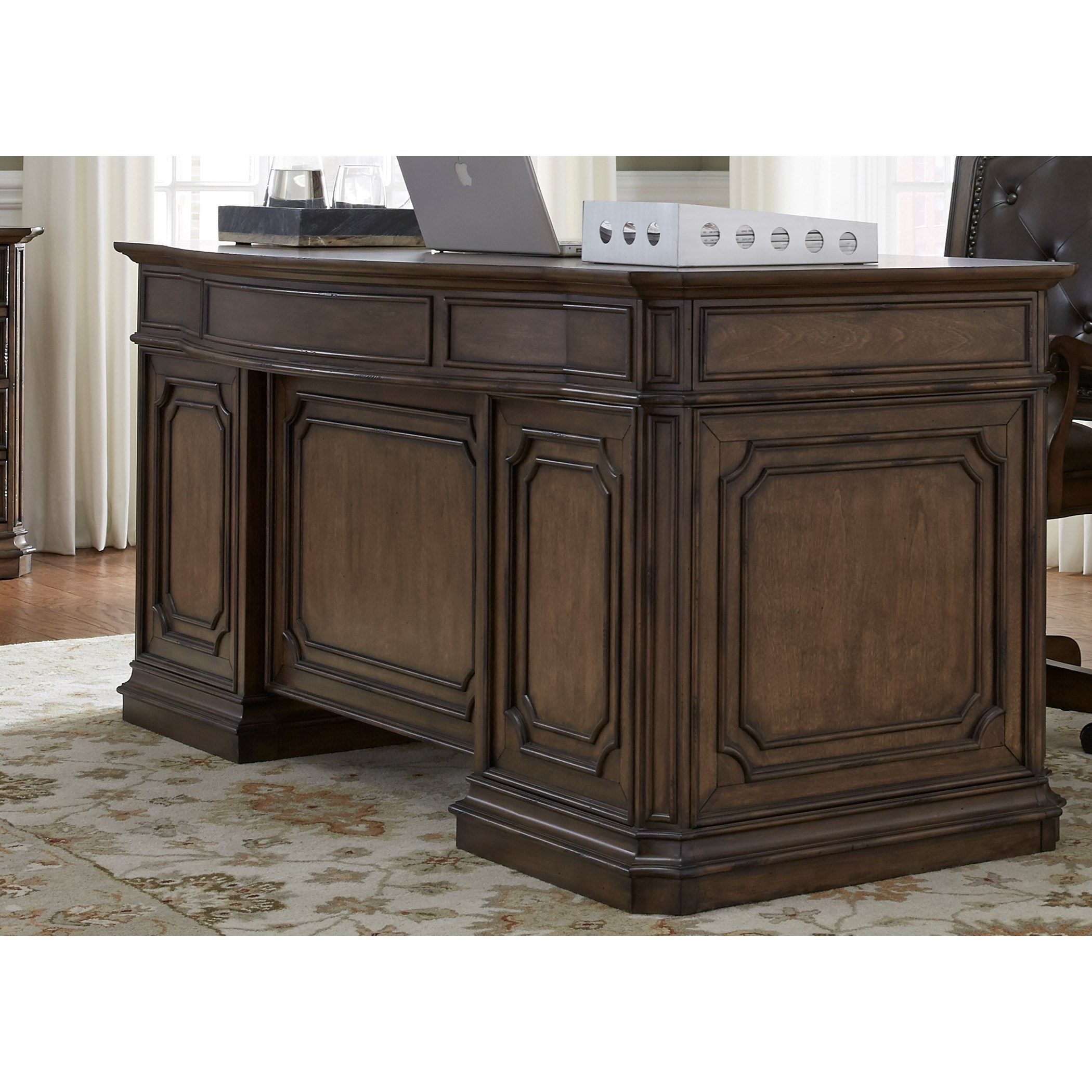 Amelia Home Office Jr Executive Desk  by Liberty Furniture at Van Hill Furniture