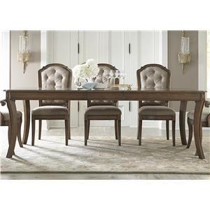 "Rectangular Leg Table with 16"" Removable Leaf"