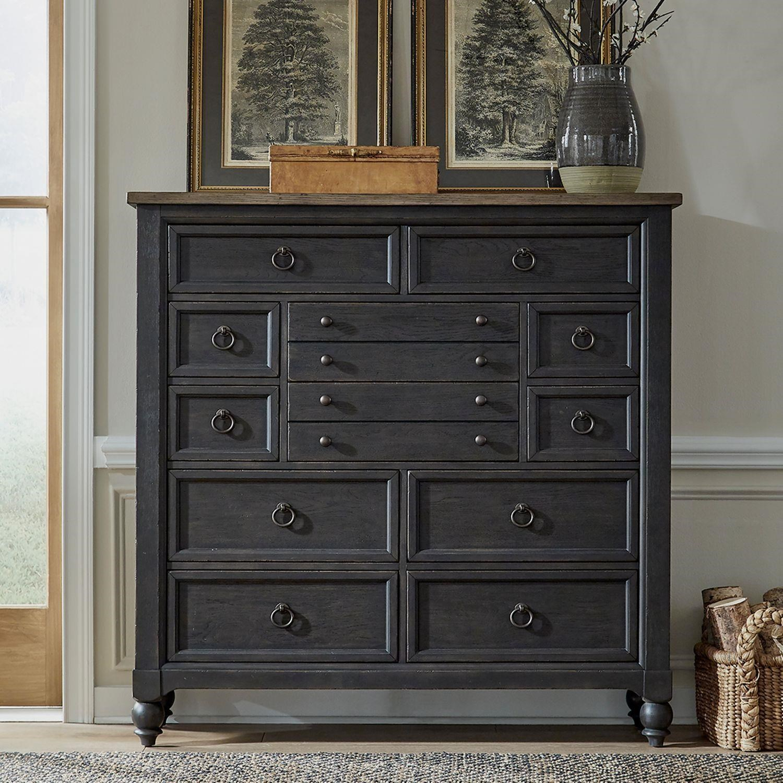 Americana Farmhouse 12 Drawer Dresser by Liberty Furniture at Johnny Janosik