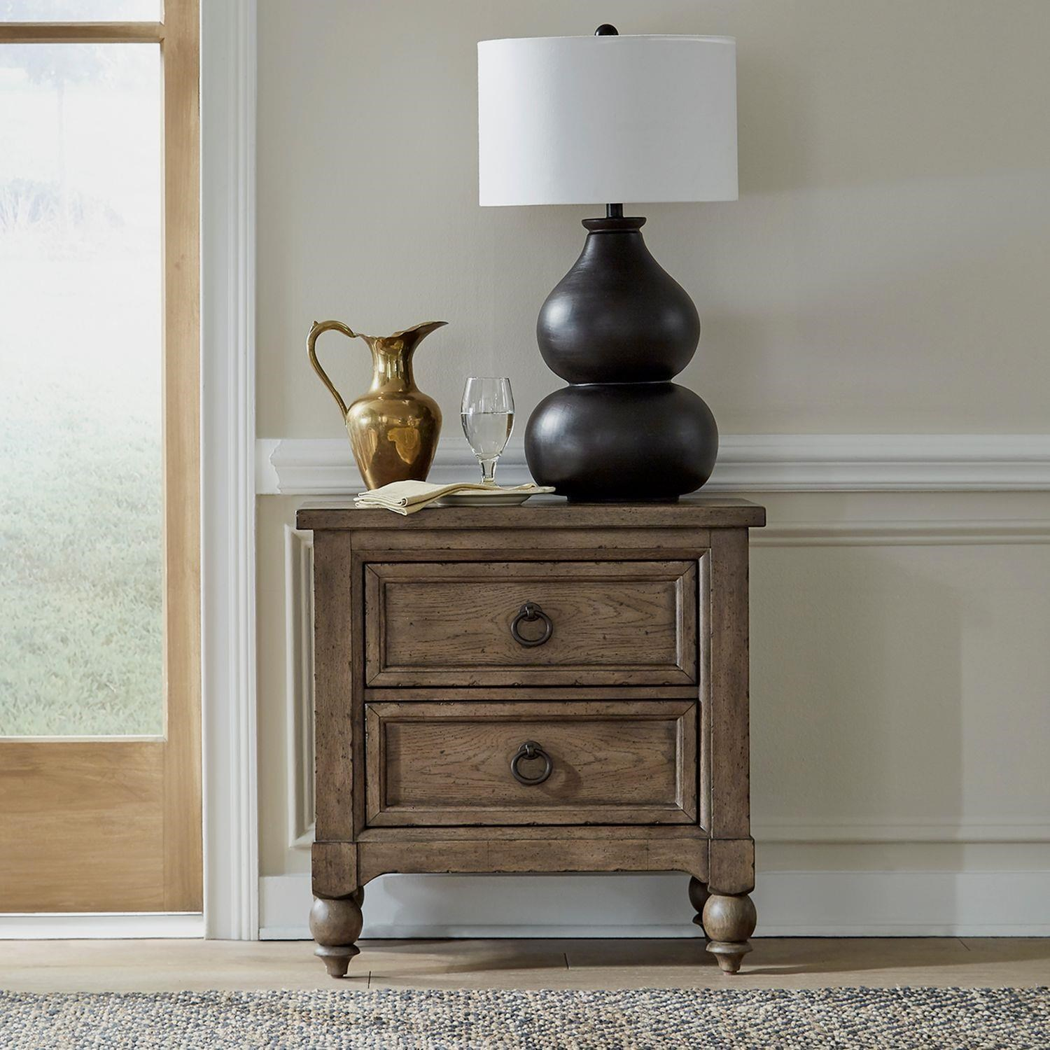 Americana Farmhouse 2 Drawer Nightstand by Liberty Furniture at Johnny Janosik