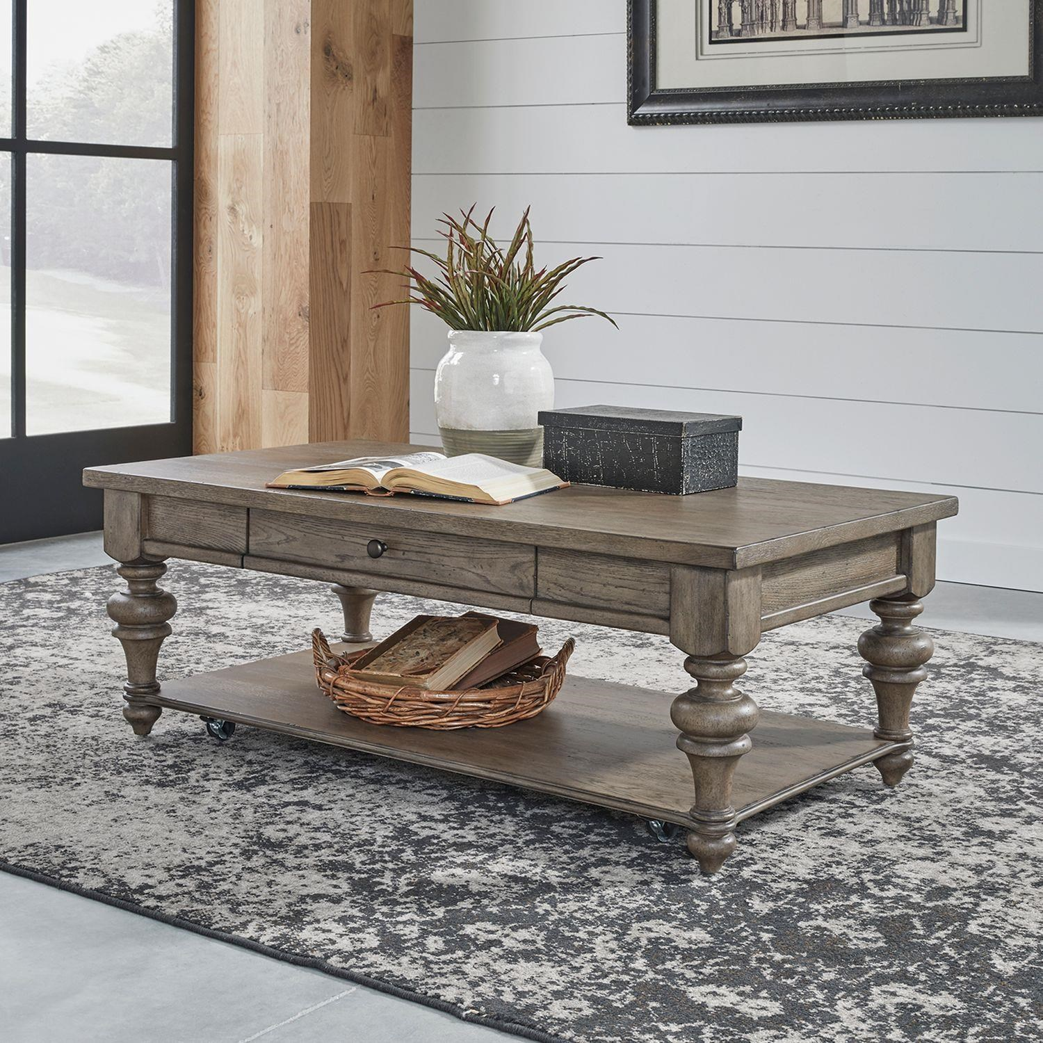 Americana Farmhouse Rectangle Cocktail Table by Liberty Furniture at Johnny Janosik