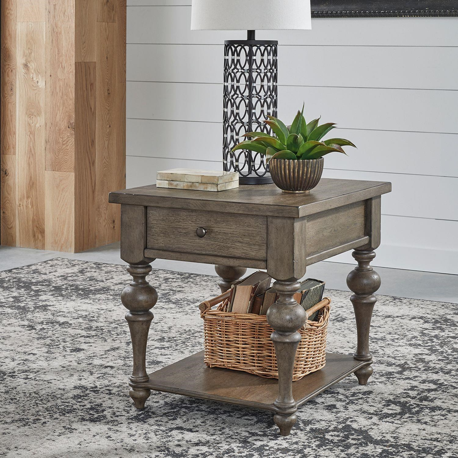 Americana Farmhouse Drawer End Table by Liberty Furniture at Johnny Janosik