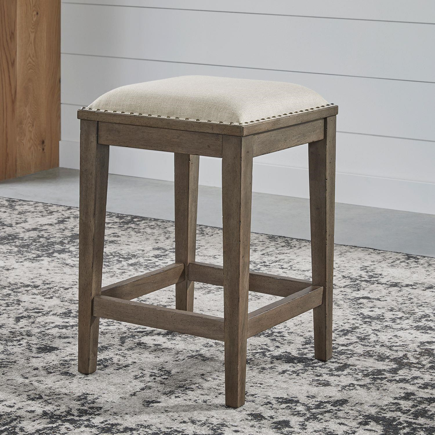 Americana Farmhouse Upholstered Console Stool by Liberty Furniture at Johnny Janosik