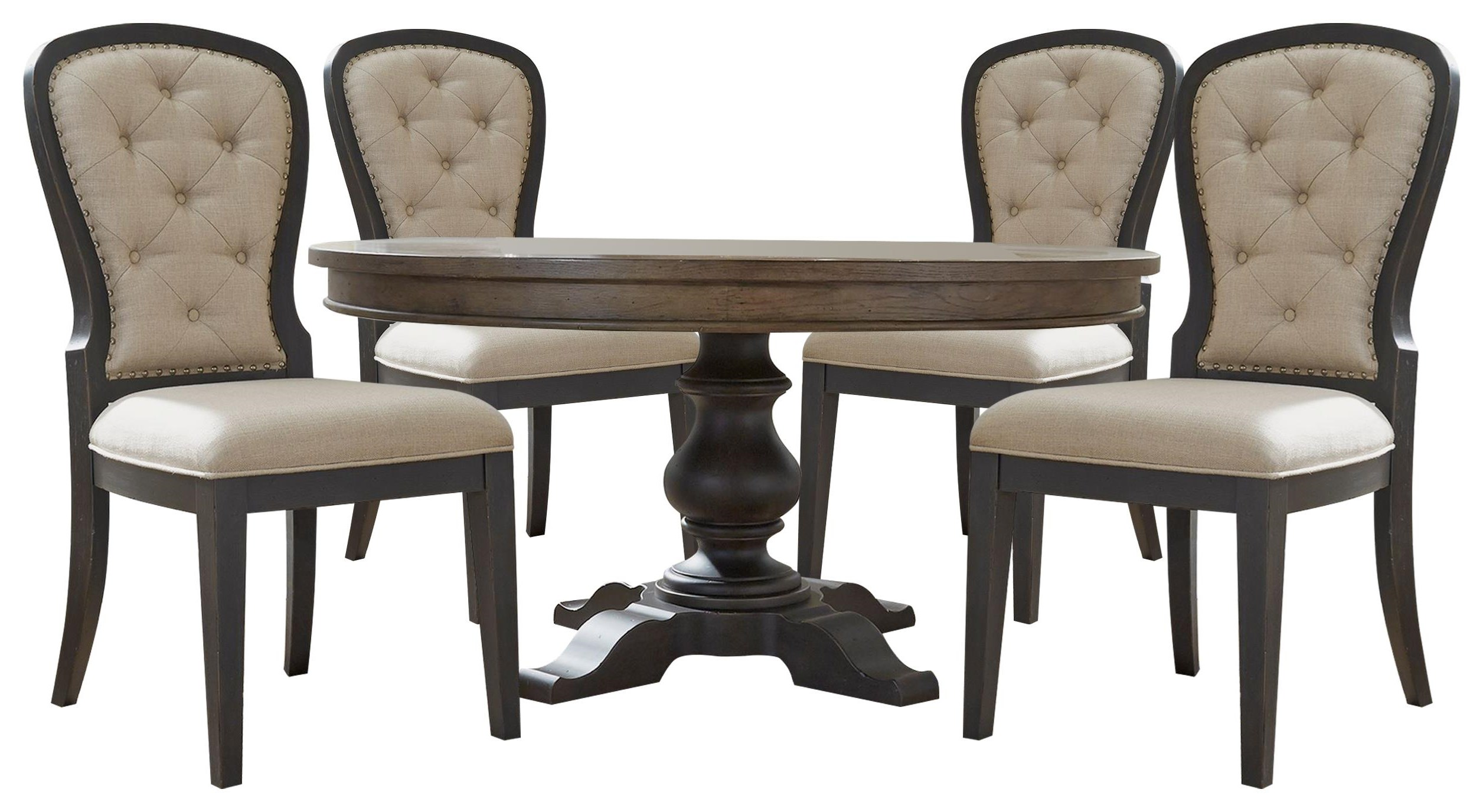 Americana Farmhouse 60 inch Table and Chairs by Liberty Furniture at Johnny Janosik