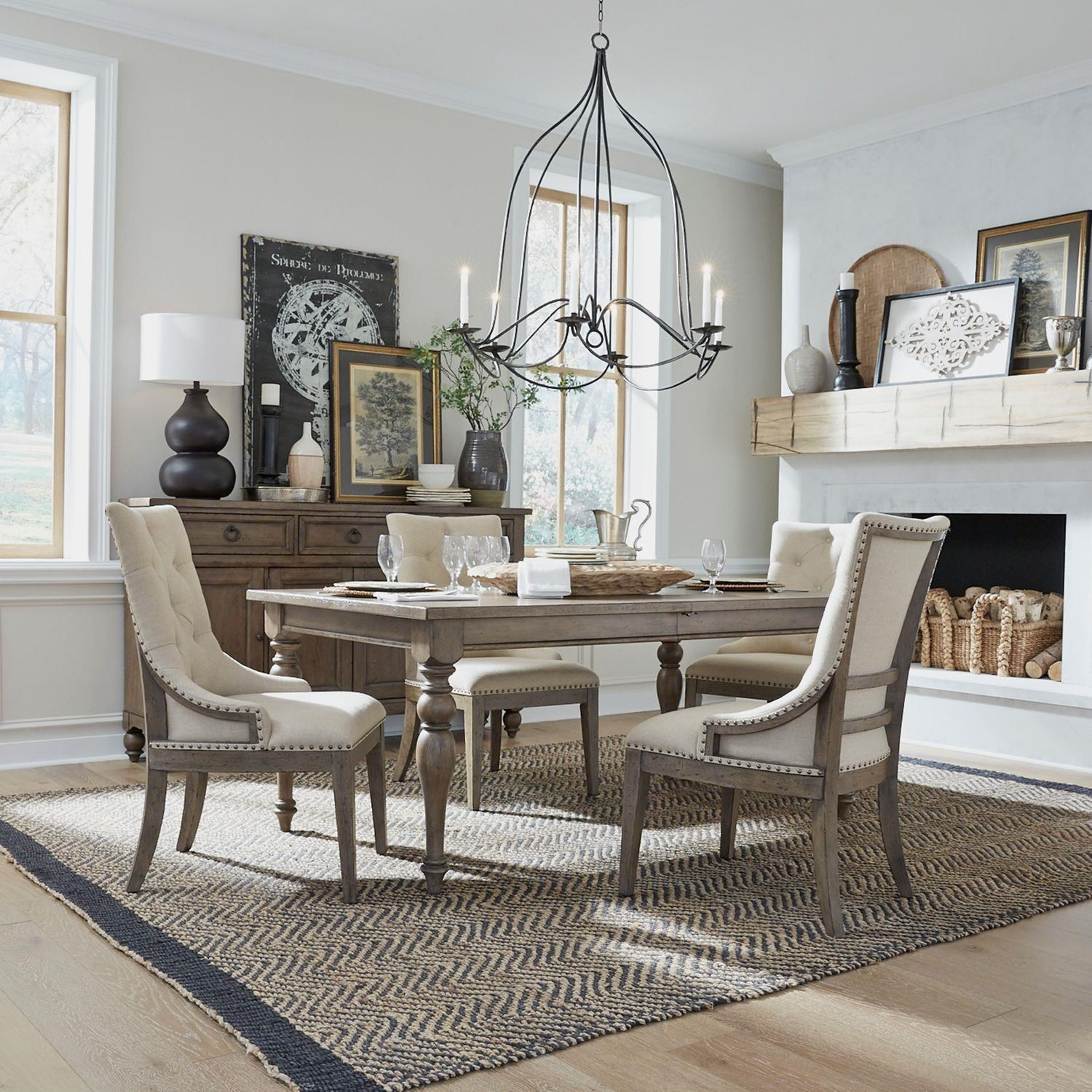 Americana Farmhouse Rectangle Table and Chair by Liberty Furniture at Johnny Janosik