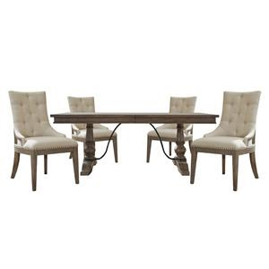 Rectangle Trestle Table and Chair