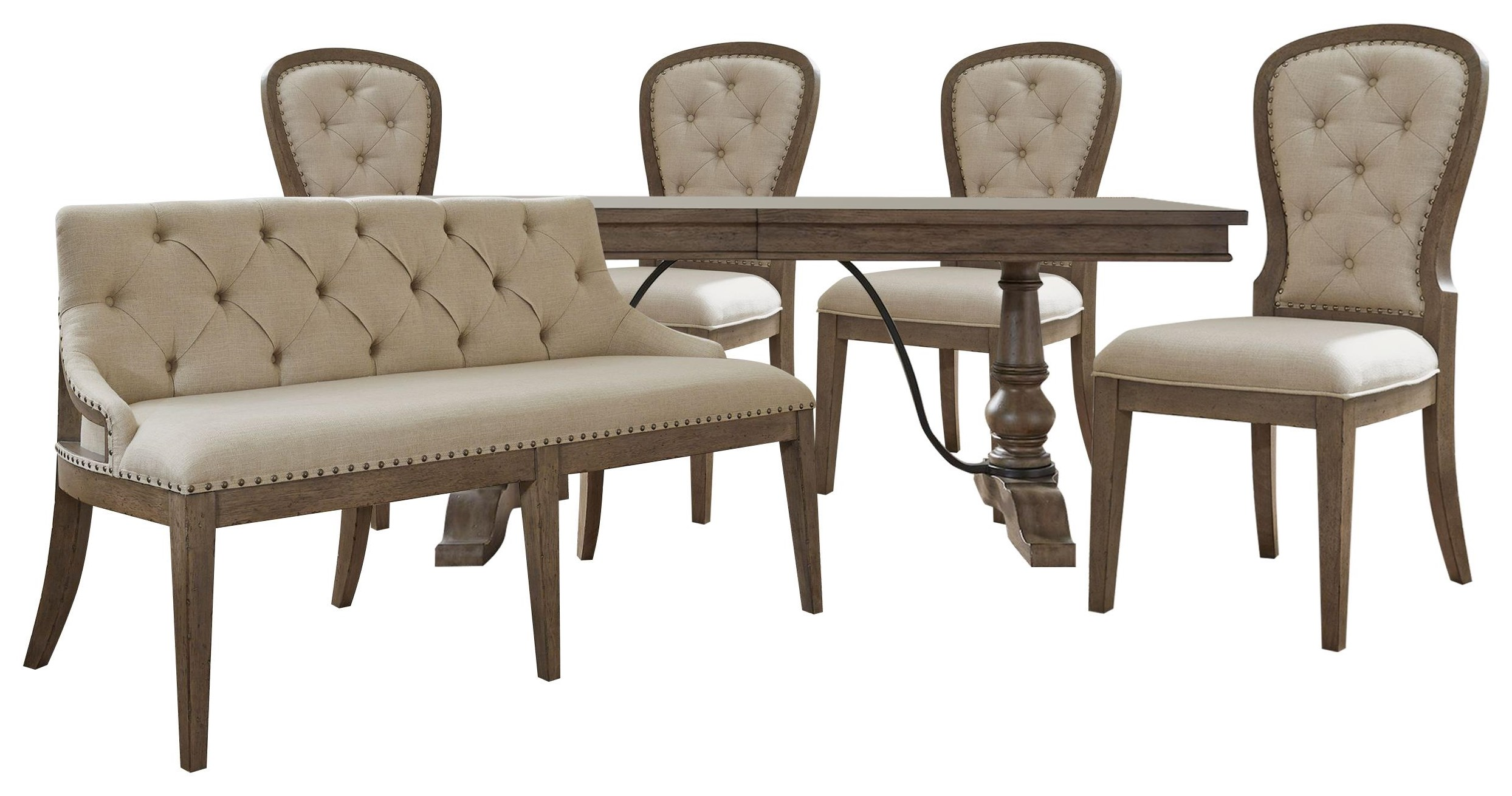 Americana Farmhouse Rectangle Chair, Chairs and Bench by Liberty Furniture at Johnny Janosik