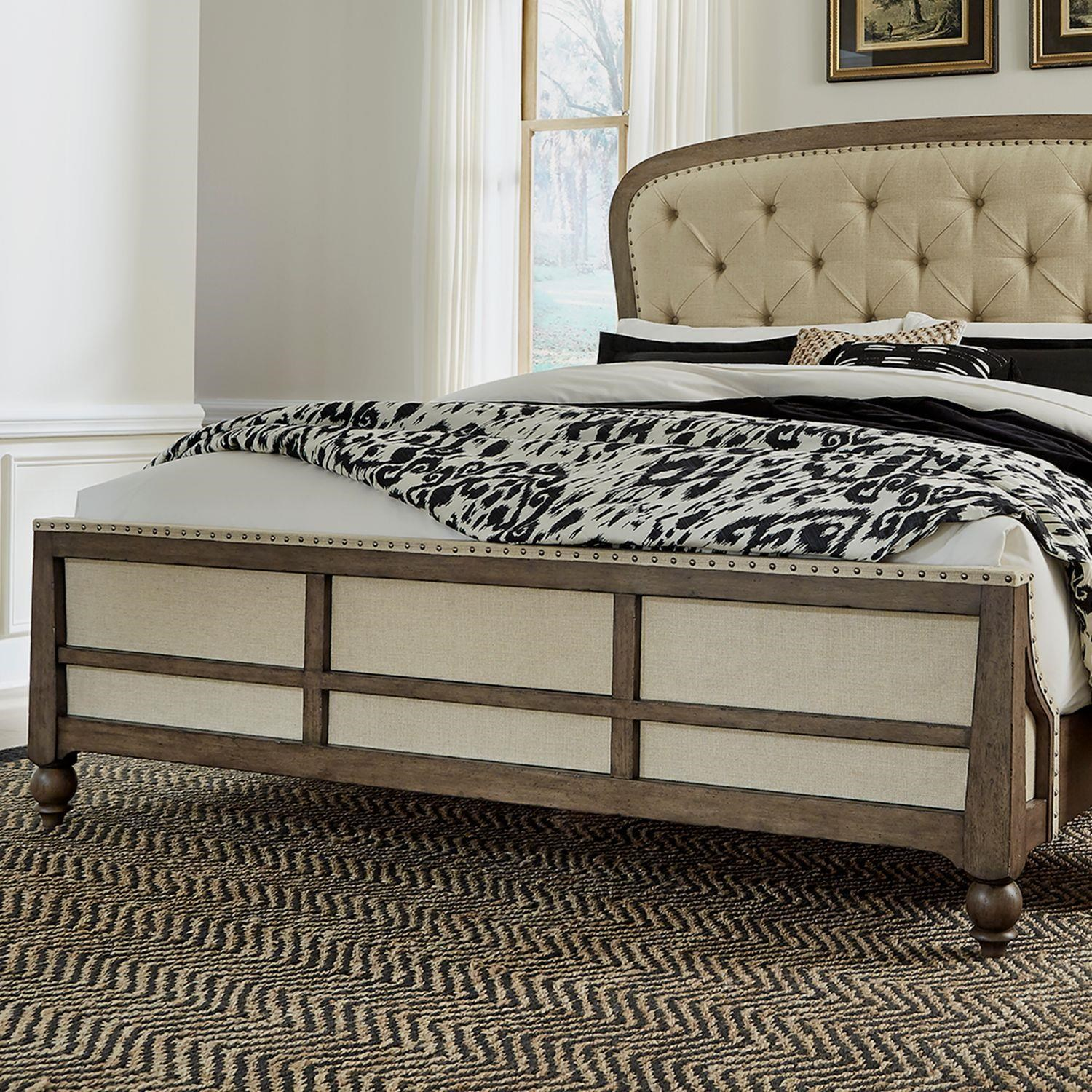 Americana Farmhouse Queen Panel Bed by Liberty Furniture at Johnny Janosik