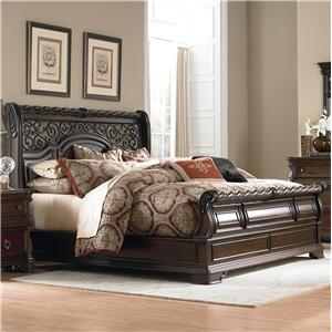 King Traditional Sleigh Bed