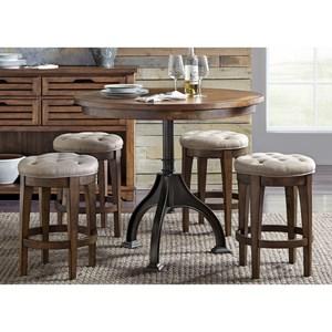 Liberty Furniture Arlington 5 Piece Gathering Table Set