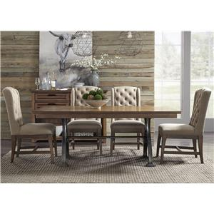 5 Piece Trestle Table and Chair Set