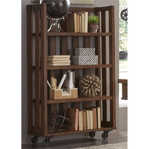 Open Bookcase with Casters