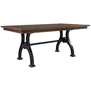 Trestle Table with Metal Base