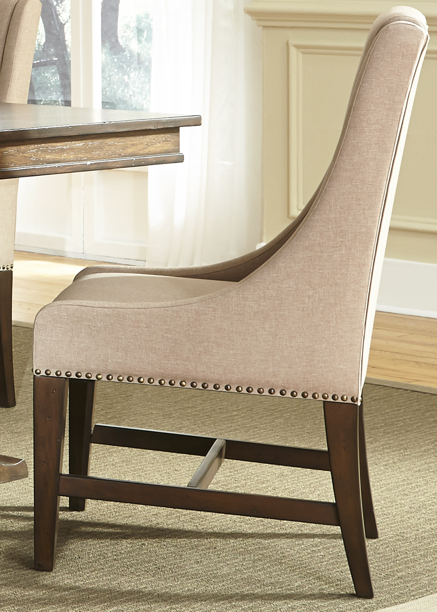 Armand Upholstered Side Chair by Liberty Furniture at Furniture and ApplianceMart