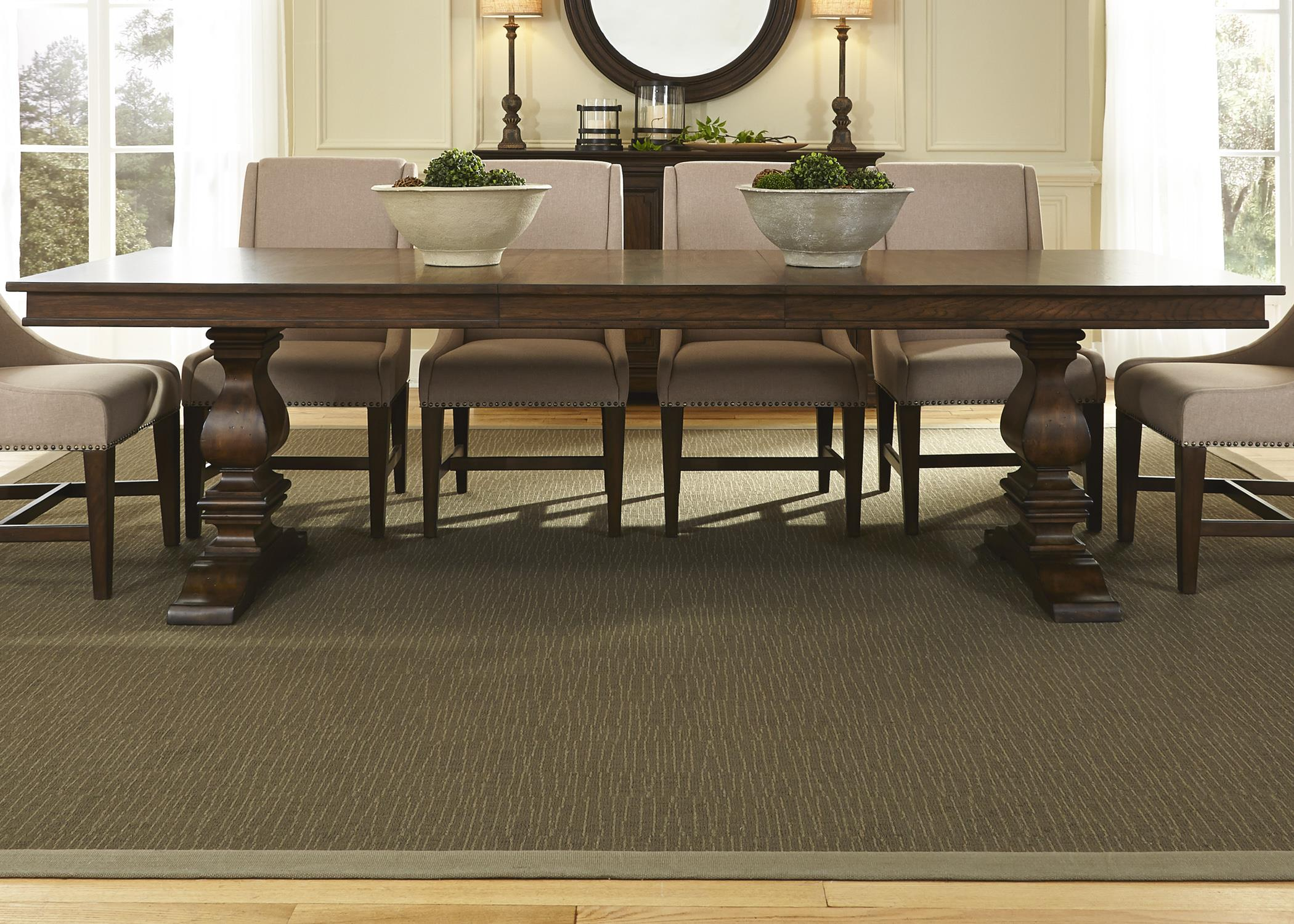 Armand Trestle Table by Libby at Walker's Furniture