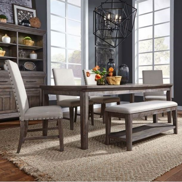 Artisan Prairie 6 Piece Rectangular Table Set by Liberty Furniture at Northeast Factory Direct