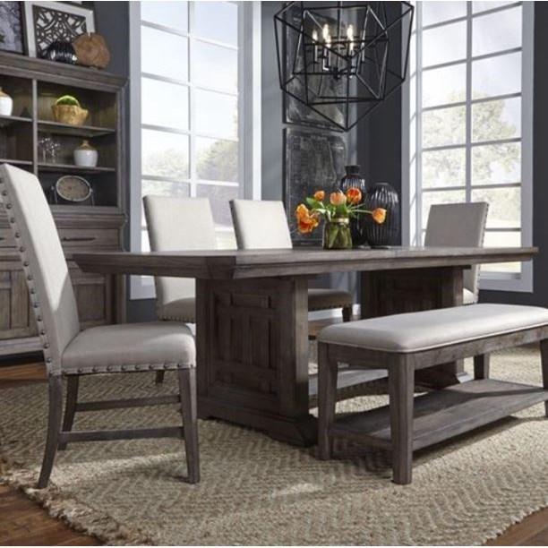Artisan Prairie 6 Piece Trestle Table Set by Liberty Furniture at Standard Furniture
