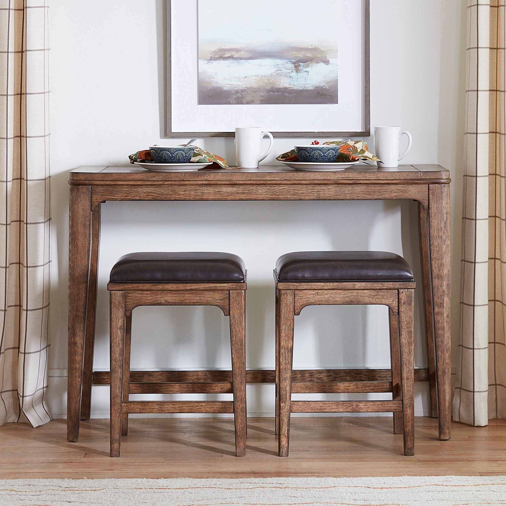 Ashford Console Bar Set by Liberty Furniture at Furniture and ApplianceMart