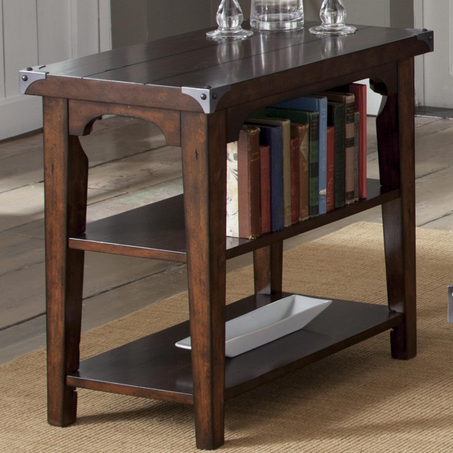 Aspen Skies Chairside End Table by Libby at Walker's Furniture