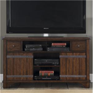 Industrial Casual TV Console with 2 Doors