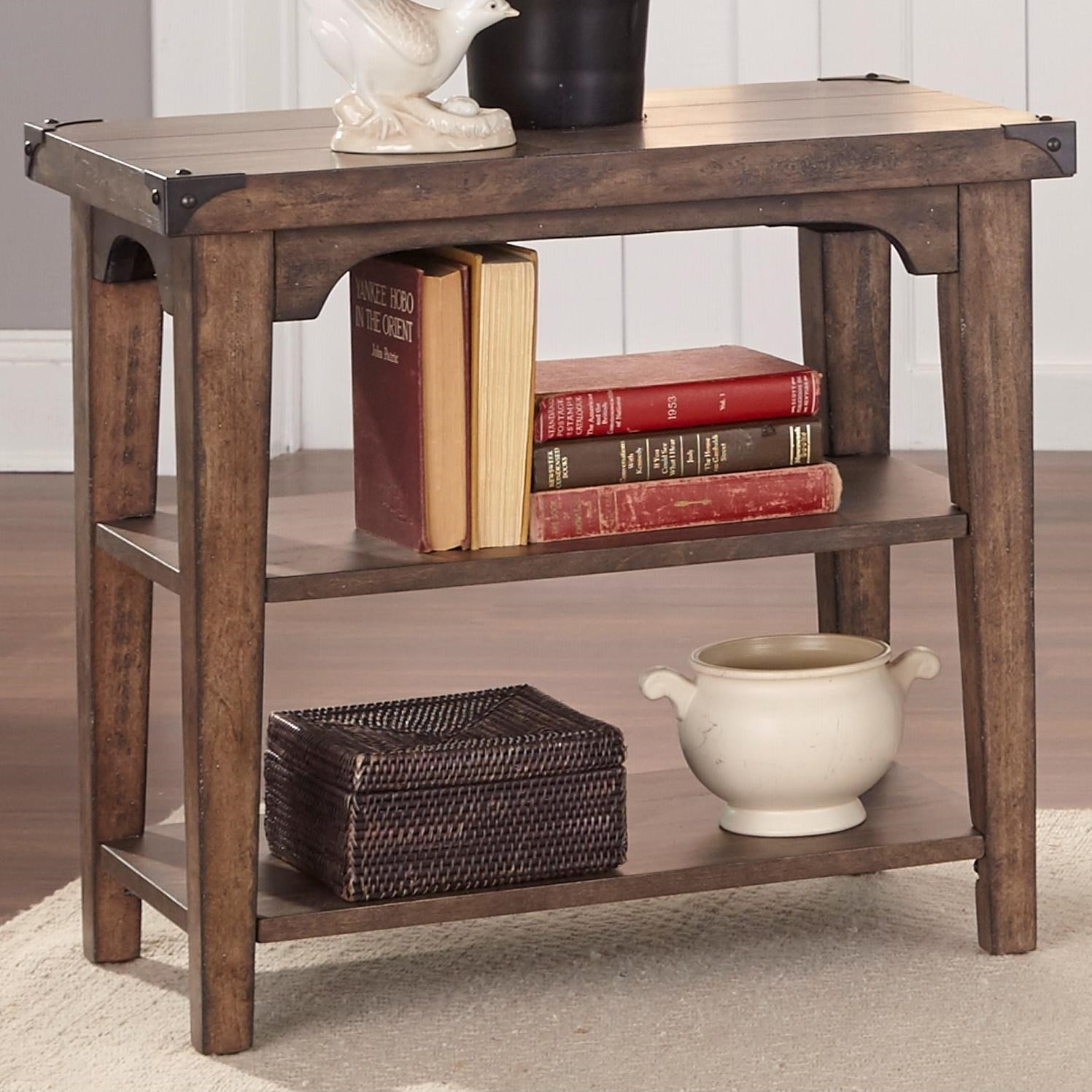 Aspen Skies Chairside End Table by Liberty Furniture at Miller Waldrop Furniture and Decor