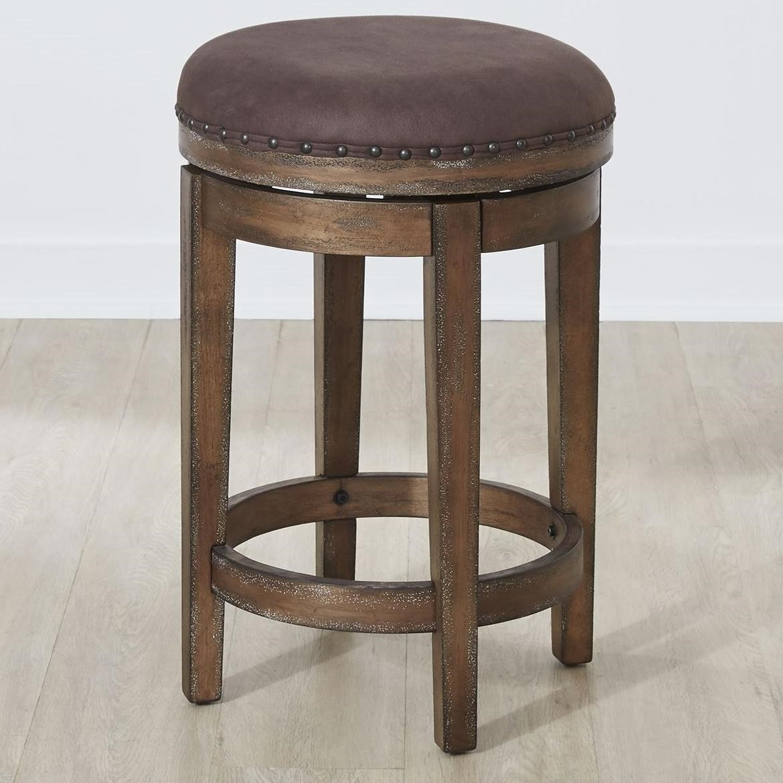 Aspen Skies Swivel Barstool by Libby at Walker's Furniture