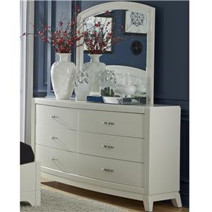 Liberty Furniture Avalon II Dresser & Arch Top Mirror