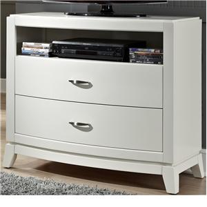 Media Chest with 2 Drawers and 1 Shelf