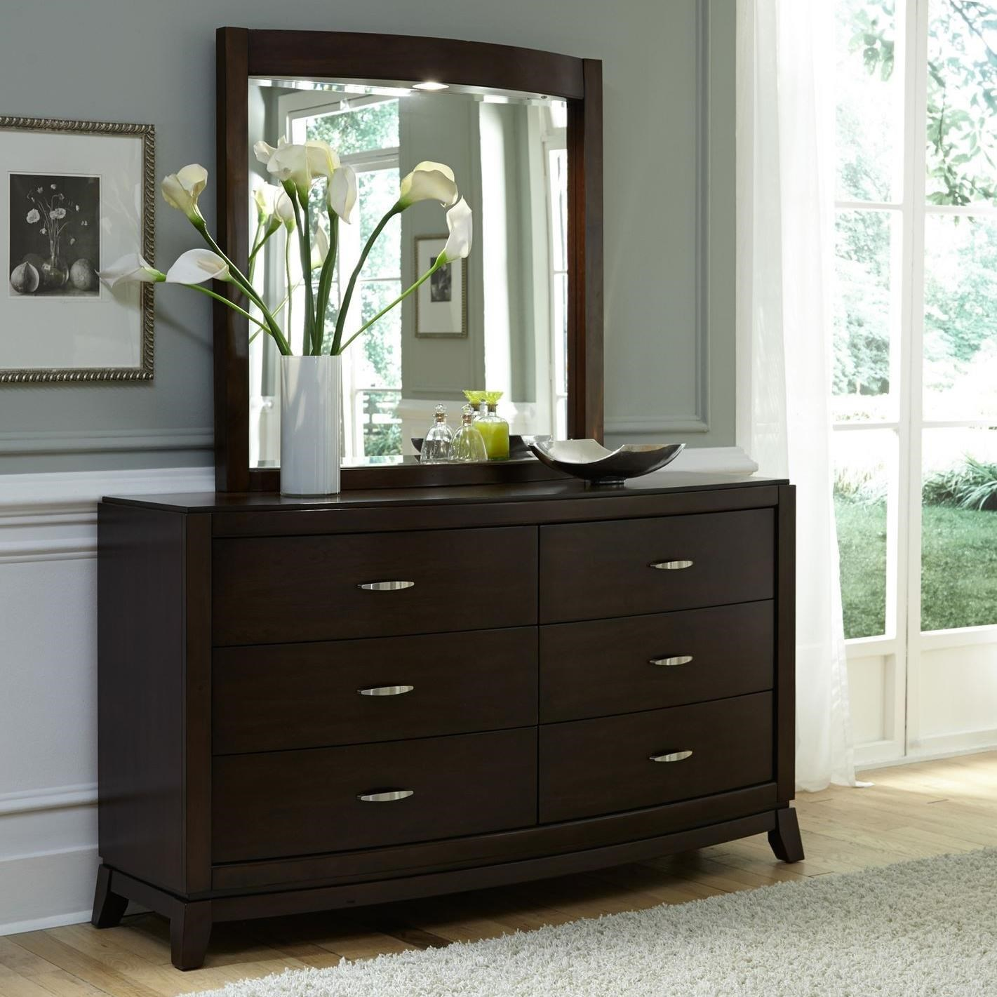 Avalon Opt Dresser & Mirror  by Liberty Furniture at Nassau Furniture and Mattress