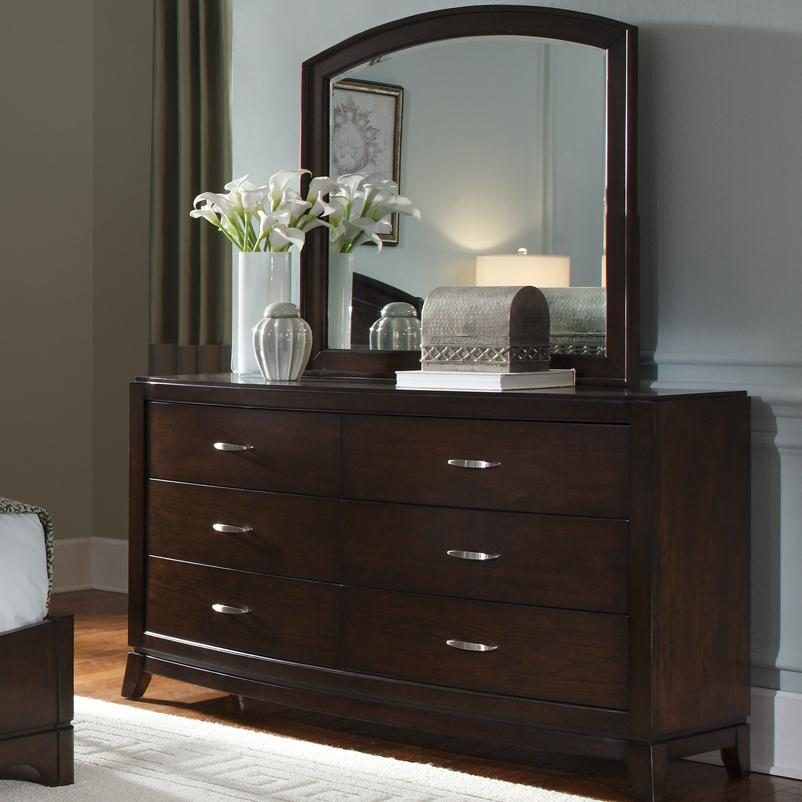 Avalon Dresser & Arch Top Mirror by Libby at Walker's Furniture